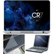 Finearts Laptop Skin - Cr7 Out Of This World With Screen Guard And Key Protector - Size 15.6 Inch