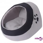 vidaXL Kućica za mačke Siva i Crna M