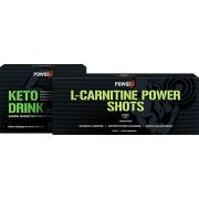 PowGen Paquete Keto Power - Keto Drink y Chupitos de L-carnitina