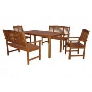 Set masa, 2 scaune si 2 banci HECHT WEEKEND
