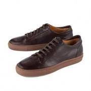 Leisure Bernacchini 1905 Calfskin Leather Sneakers, 8 - Dark brown