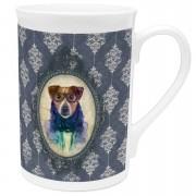 Dog Bone China Mug - Regal Blue