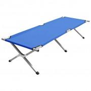 vidaXL Къмпинг легло, 190x74x47 см, XL, синьо