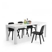 Mobili Fiver Mesa de Cocina Extensible, modelo First, color blanco brillante