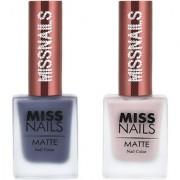 Miss Nails Grey Goose Jade Rose Matte Series nail Polish combo pack 10 ml each