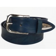 Cintura da uomo in pelle Blu M. Principe L.Rodeo 3182 110 cm MADE IN ITALY
