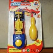 Juguete Auto F1 C/lanzador + Pino Track Racing 13cm