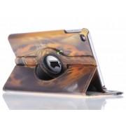 360° draaibare tijger design tablethoes voor de iPad Mini 4