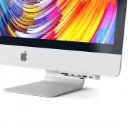 Satechi Aluminium USB-C Clamp Hub Pro - алуминиев USB-C хъб и четец за SD/microSD карти за iMac 2017, iMac Pro, iMac 2019 (сребрист)