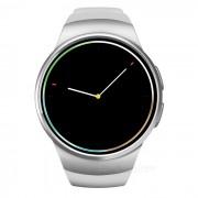 Reloj inteligente multifuncion unisex KW18 de ultima moda - blanco