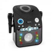 Auna StarMaker Equipo de karaoke reproductor de CD Bluetooth AUX Efectos de luz LED 2 x micrófonos