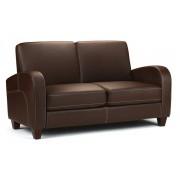 Vivo Sofa in Chestnut Faux Leather (1,2 & 3 Seater) - 2 Seater Sofa