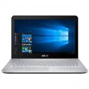 Лаптоп ASUS N552VX-FY209D, 15.6 инча FHD, Intel Core i7-6700HQ, 8GB, 1TB HDD, NVIDIA GeForce GTX 950M, Сребрист