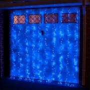 Instalatie de Craciun Flippy Tip Perdea 3 x 3 m 320 LED-uri Interconectabila Albastru