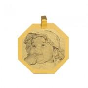 Pingente de Ouro com foto gravada / Fotogravação 24.3mm x 24.3mm