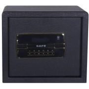 Acél, elektronikus számzáras széf, biztonsági kulcsokkal 32 x 37,5 x 30 cm 32BLK
