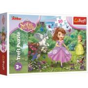 Puzzle clasic pentru copii - Printesa Sofia in gradina 30 piese