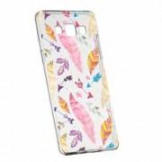 Husa Silicon Transparent Slim Happy Feathers Samsung Galaxy A3