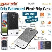 Promate Cameo.S4-Cameo-Drip Patterned Flexi-Grip Snap On Case for Samsung Galaxy S4-Grey