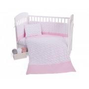 Бебешки спален комплект трико 5 части Pink Flowers 60/120