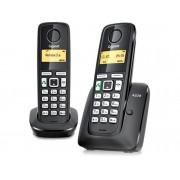 Siemens Teléfono Inalámbrico GIGASET SIEMENS A220 Dúo Negro