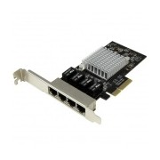 StarTech.com Tarjeta de Red PCI Express Ethernet Gigabit con 4 Puertos RJ-45 Chipset Intel i350
