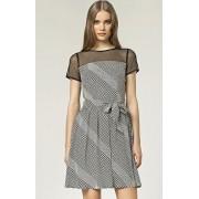 Sukienka s44 - wzory (czarny-wzór)