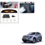 Auto Addict Car White Reverse Parking Sensor With LED Display For Mahindra XUV 500