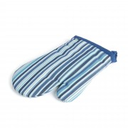Kave Home Manopla Shire azul con rayas