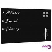 vidaXL Zidna crna magnetna ploča od stakla 60 x 40 cm