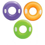 30 inch Inflatable Tube Swim Ring with Handles - Blow Up Floating Raft Tube for Swimming Pool Beach