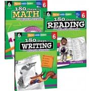 180 Days of Reading, Writing and Math for Sixth Grade 3-Book Set, Paperback/Teacher Created Materials