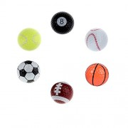 Day Mini Sports Toy Ball Set for Toddlers, Soft Foam Playground Balls for Kids Outdoor Indoor Family Games (Diameter- 3 inches)( Birthday Return Gift for Kids) ( Pack of 6 )
