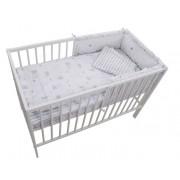 MamaKiddies Sofie Dreams 4 részes ágynemű 180°-os rácsvédővel nyuszis mintával