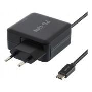 Deltaco USB-C-laddare 18W för bärbara datorer