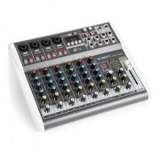 VMM-K802 Misturador de 8 canais, Porta USB, Receptor BT, 16-DSP, ALimentação Fantasma +48V