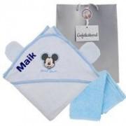 babykadowinkel.nl Badcape Disney Mickey Mouse blauw met naam
