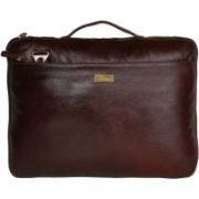 SCHARF JAMES FRAIN - CASE OF BIRTH Genuine Leather Laptop Sleeve Messenger Bag(Brown, 5 L)