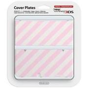 Carcasa Nintendo Stripes Nintendo 3Ds Pink And White