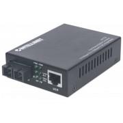 Intellinet Fast Ethernet Single Mode Media Converter - 10/100Base-TX to 100Base-FX (SC) Single-Mode