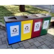 Алсера Урна для раздельного сбора мусора Алсера четверная
