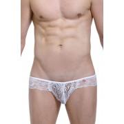 Petit-Q Hear Lace Jock Bikini Jock Strap Underwear White PQ170906