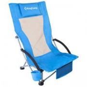 Стол за къмпинг KING CAMP High Backed, сгъваем, син, MAS-KC1901