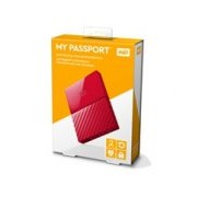 DD EXTERNO PORTATIL 2TB WD MY PASSPORT ROJO 2.5/USB3.0/COPIA LOCAL/ENCRIPTACION/WIN