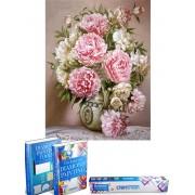 Crafterman™ Diamond Painting Pakket Volwassenen - Mooie Roze rozen (bloemen)- 30x40cm - volledige bedekking - vierkante steentjes - 30 verschillende kleuren - hobby pakket - Met tijdelijk 2 E-Books