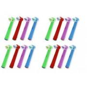 James Zhou 16-pack färgglada kompatibla tandborsthuvud till Oral-B, 4 olika färger