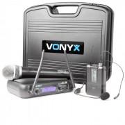 Vonyx WM73C Système radio sans fil 2 canaux UHF