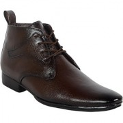 1AAROW Viper Mens Formal Boot Brown