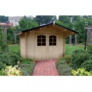 Cabaña de madera Rosa 320x280 cm para Jardín