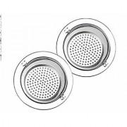 Aeoss 2 PCS Kitchen Sink Strainer 4.5 and 3.4 Inch Diameter Stainless Steel Kitchen Sink Basket Strainer